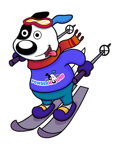Skiing Powderhound Dog Icon